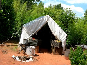 Living in a tent?