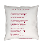 Everyday Pillow with Poetry by Penelope