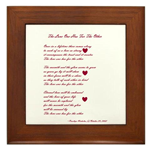 Wall Tile with Poetry by Penelope