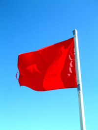 Warning - Red Flag!
