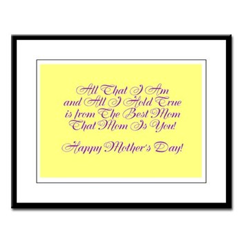 The Best Mom Poem - Large Framed Print