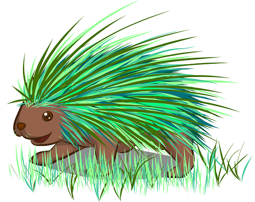 Needles, The Green Porcupine